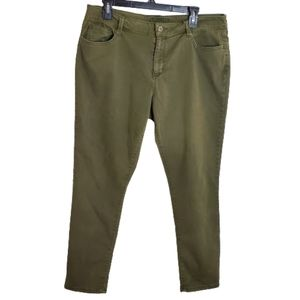 Arizona Jean Co. Dark Olive Green Skinny Jeans